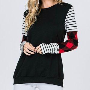 Lovely Melody Black/Red Buffalo Check Shirt-S